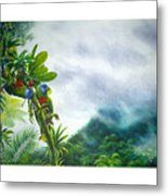Mountain High - St. Lucia Parrots Metal Print