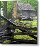Mountain Homestead Metal Print