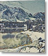 Mountain Lake, California Metal Print