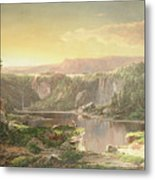 Mountain Lake Near Piedmont Metal Print