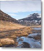 Mountain Landscape Iceland Metal Print