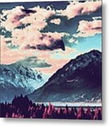 Mountain  Landscape Vista Metal Print