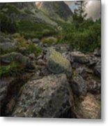 Mountain Landscape With A Creek Metal Print