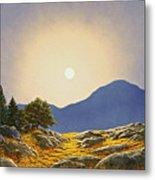 Mountain Meadow In Moonlight Metal Print