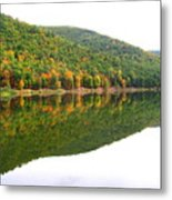 Mountain Mirror Metal Print