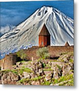 Mountain Monastery Metal Print