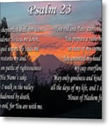 Mountain Morning Prayer Metal Print