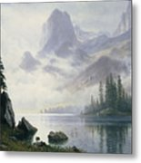 Mountain Out Of The Mist Metal Print