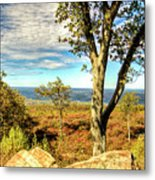 Mountain Overlook At High Point New Jersey Metal Print