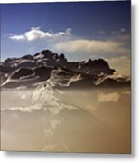 Mountain Panorama And Mist Les Gets Portes Du Soleil Morzine Haute Savoie France Metal Print