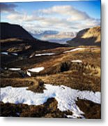 Mountain Pass In Iceland Metal Print