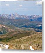 Mountain Range From Mount Evans Summit Metal Print