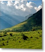 Mountain Rays Metal Print by Evgeni Dinev