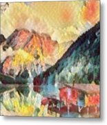 Mountain Retreat Metal Print