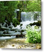 Mountain River Spring Metal Print