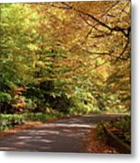 Mountain Road Stowe Vt Metal Print
