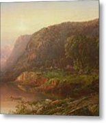 Mountain Scene On The Ohio River Metal Print