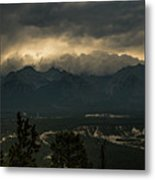 Mountain Storm Metal Print