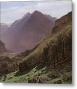 Mountain Study Metal Print by Alexandre Calame