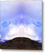 Mountain Tops In Sicily Metal Print