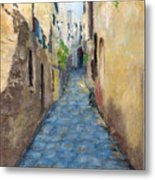 Mountain Town Italy Metal Print
