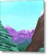 Mountain View Metal Print by M Valeriano