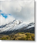 Mountain View Patagonia Chile Metal Print