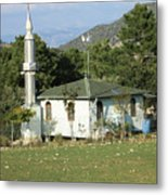 Mountain Village Mosque Metal Print