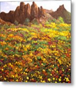 Mountain Wildflowers II Metal Print
