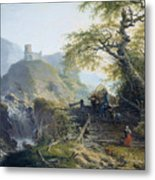 Mountainous Landscape Near Duesseldorf Metal Print