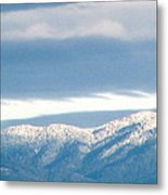 Mountainous Skies Metal Print