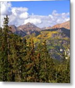 Mountains Aglow Metal Print