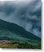 Mountains And Clouds 1350t Metal Print