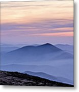 Mountains And Mist Metal Print