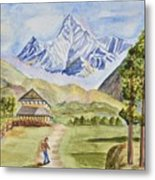 Mountains And Valley Metal Print