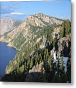 Mountains Around Crater Lake Metal Print