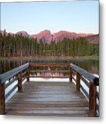 Mountains Behind Sprague Lake Metal Print