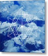 Mountains, Clouds And Geometry Metal Print