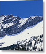 Mountains Covered With Snow, Little Metal Print