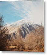 Mountains In The Background Xvi Metal Print