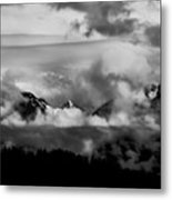 Mountains In The Clouds Metal Print