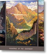 Mountains Of The Southwest Metal Print