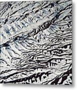 Mountains Patterns. Aerial View Metal Print