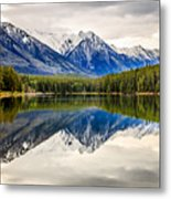 Mountains Reflected In The Lake Metal Print