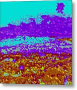 Mountains Sky D4 Metal Print