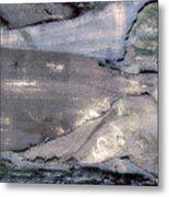 Mountains To The Sea Abstract Metal Print
