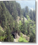 Mountains With Railroad And Tunnels  Metal Print