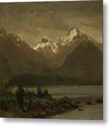Mountains_and_lake Metal Print