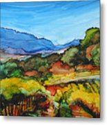 Mountainside Vineyard Metal Print