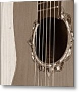 Mounted 6 String Metal Print
